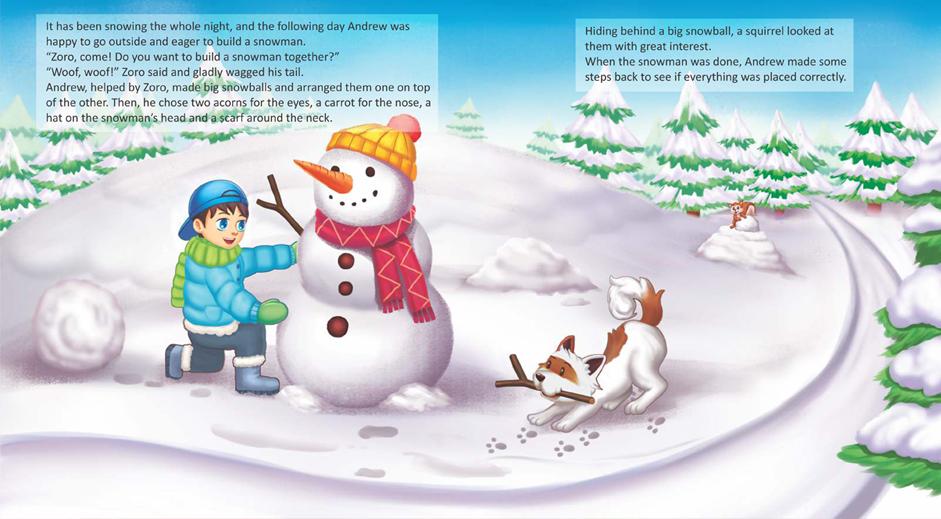 "Carte de povești ""Andrew, Zoro and Santa Claus"""