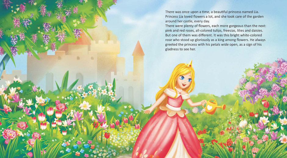 """Carte de povești """"Princess Lia and the Flower Fairy"""""""